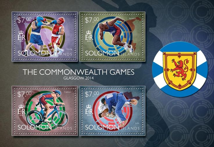 Post stamp Solomon Islands SLM 14502 a	The Commonwealth games Glasgow 2014 (Boxing, Athletics, Triathlon, Judo)