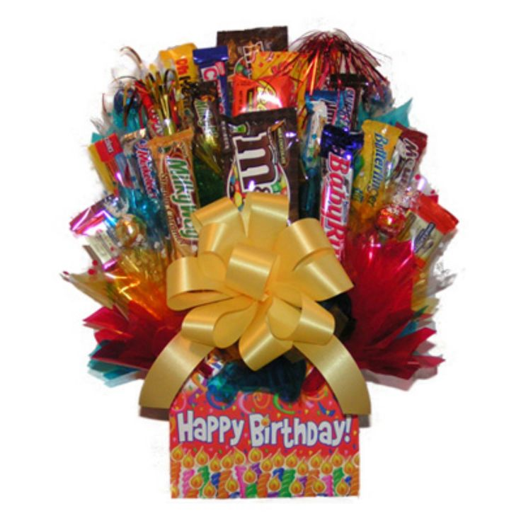Happy Birthday Box Candy Bouquet - IAMG020