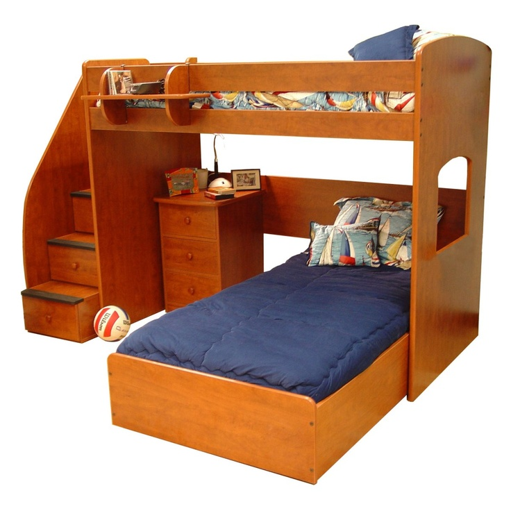 Buy Berg Furniture Twin Or Full Size Utica Loft Bed With Staircase And Kids Bedroom A Beds Set