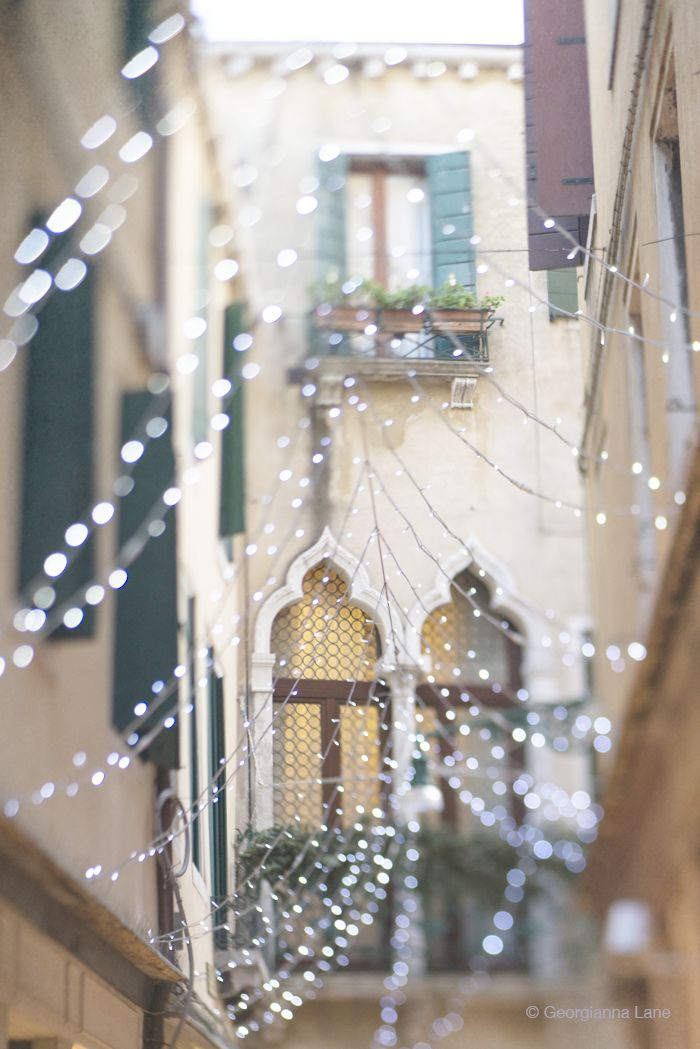 twinkly lights in venice