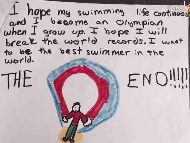 Day 221. Ryan Murphy Swimming Life Age 8: Ryan Murphy puts his desires in writing at 8 years old. #RyanMurphy kurilane.com