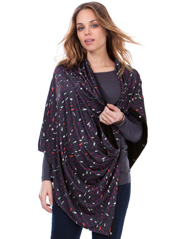 Soft stretch jersey Poppers to fasten Chic print The perfect cover for nursing Embrace infinite style and endless possibilities with our brand new Printed Nursing Shawl. Made in the softest stretch jersey with a chic abstract print, this must-have accessory is perfect for wrapping, draping and breastfeeding on the go. Featuring easy-open poppers to customise the style, you can wear it as a scarf, a wrap, an emergency hood, or use it as a chic nursing cover while you're out and abou...