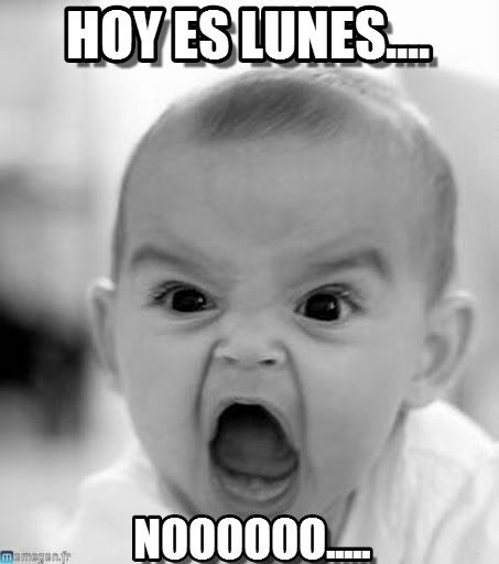 Hoy Es Lunes.... - Angry Baby meme en Memegen