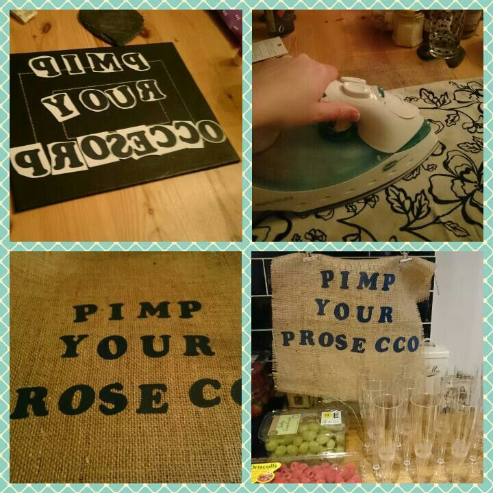 My DIY pimp your prosecco sign for my best friend's hen do in York. It's a bit wonky but at least she knows it was made with love haha