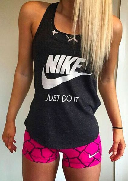 "JUST DO IT | is why I love Nike because it means "" oh I'm to tired I can go out tomorrow"" NO you won't actually end up going to get up and JUST DO IT you will feel great after woods I promise❤️❤️"