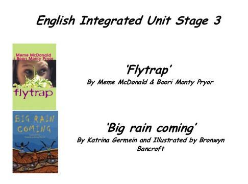 Flytrap & Big Rain Coming - unit of work - stage 3