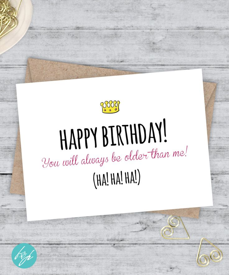 The 25 best Happy birthday brother funny ideas – Birthday Card for Brother from Sister