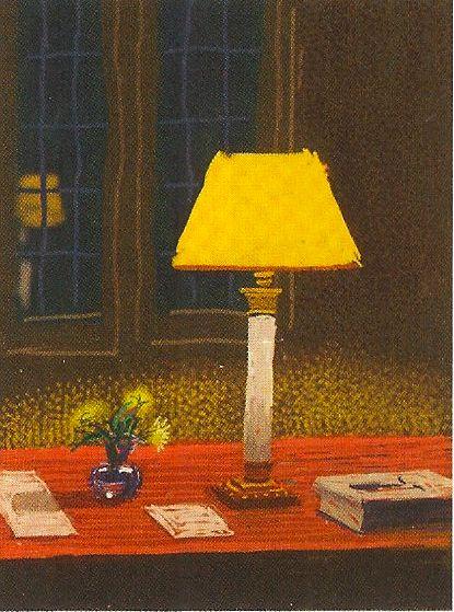 David Hockney Light Desk Den Window art painting