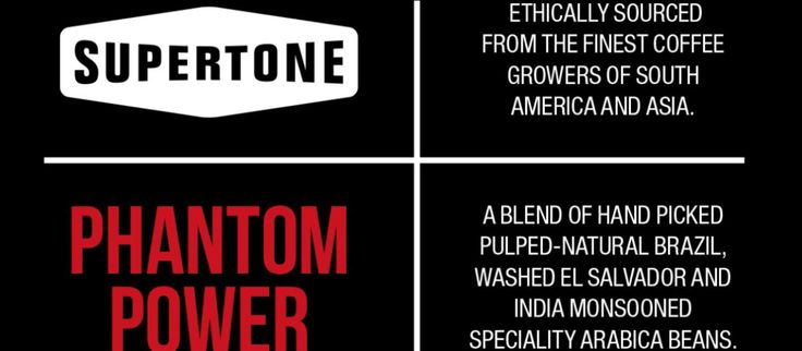 A Coffee Kick for Creatives: Supertone 'Phantom Power' coffee. Ethically sourced - available in beans or ground. The perfect quality coffee present. #coffee #Christmas #gift #ideas