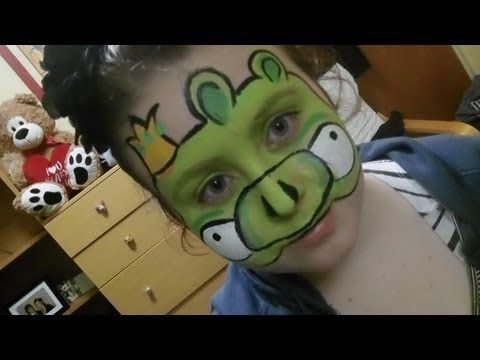 Angry Bird Pig face paint