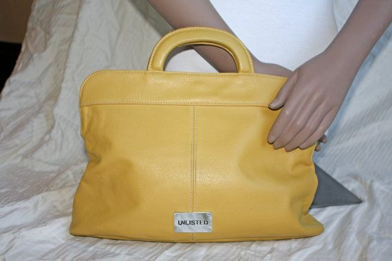 Vegan Mustard Kenneth Cole Unlisted Handbag 90s by in2purses2010, $18.00