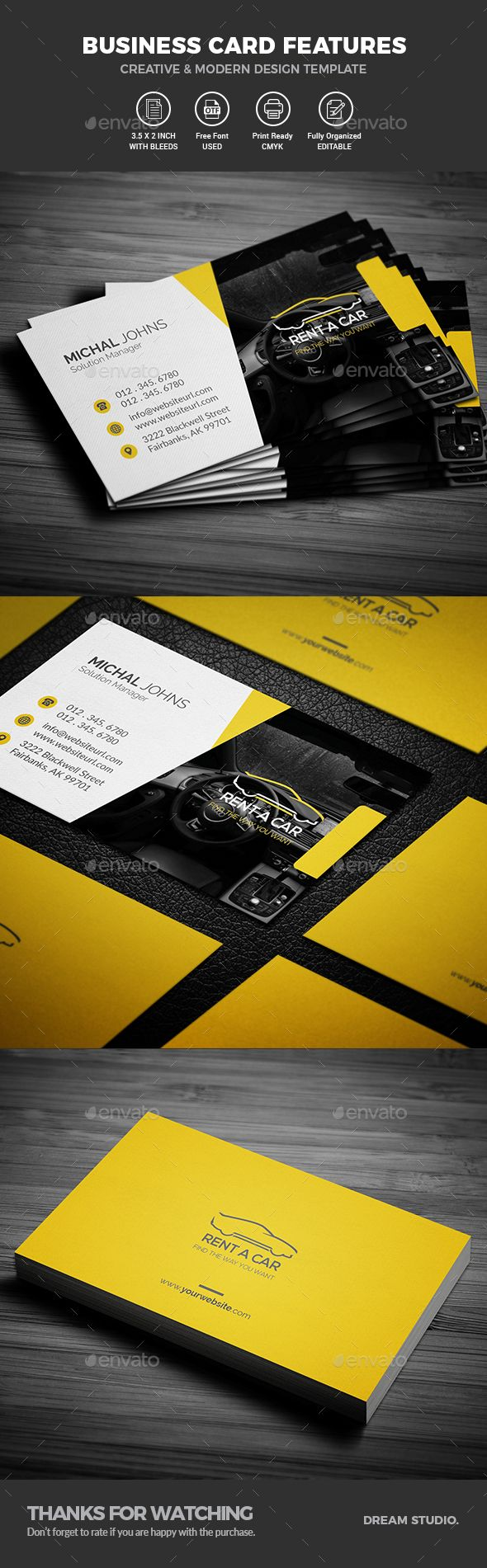 #Business #Cards - Business Cards Print #Templates Download here: https://graphicriver.net/item/business-cards/20131190?ref=alena994