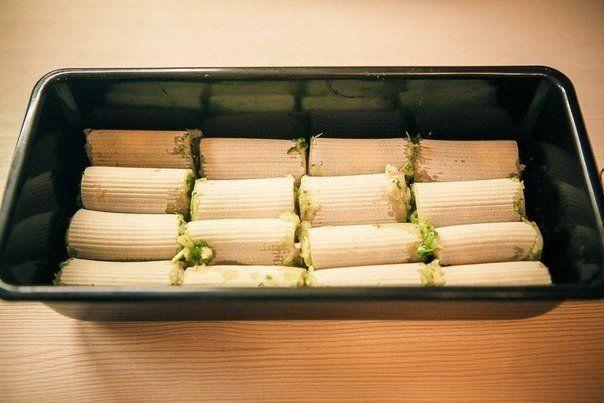 Макароны начиненные куриным фаршем. | Кулинарные Рецепты