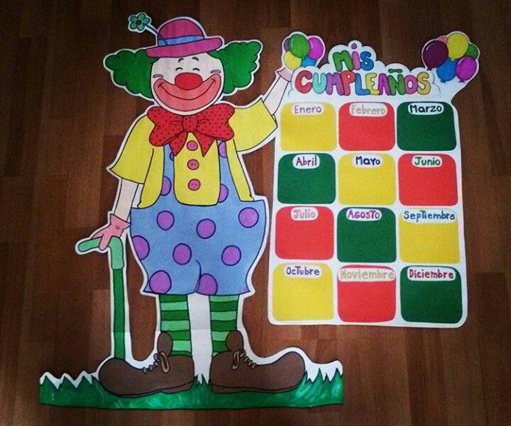 Panel de cumpleaños preescolar