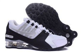 120276b3cd73 Mens Nike Shox NZ White Black Silver Athletic Running Shoes Trainers ...