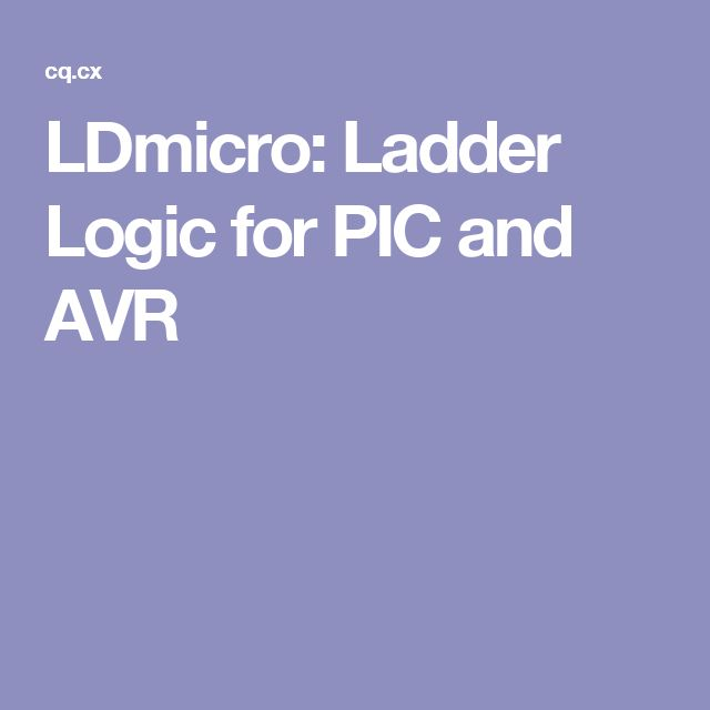 LDmicro: Ladder Logic for PIC and AVR