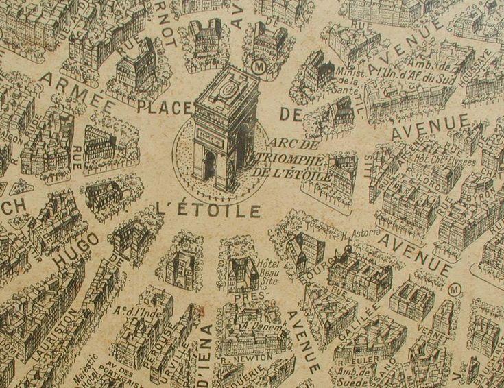 7 Best Paris Maps Images On Pinterest Antique Larger And: Vintage Paris Map Poster At Infoasik.co