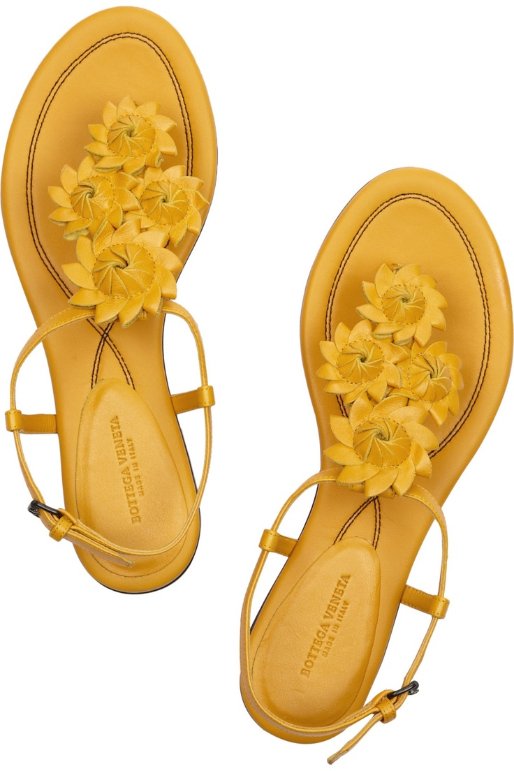 bottega veneta flower-cutout sandals.