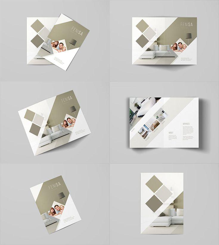 A4 Bi Fold Brochure Mockup Template bi fold mock ups Pinterest - gate fold brochure mockup