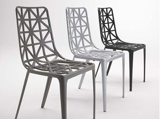 Stackable aluminium chair TOUR EIFFEL - COEDITION