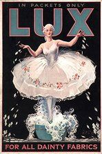 1920's poster Lux became a laundry soap in the 1940's