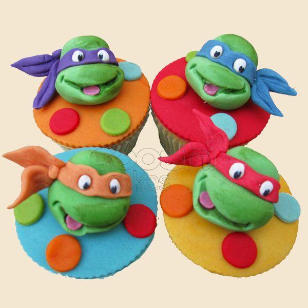 Tmnt Cupcakes Zayne S Birthday Party Chocolate And