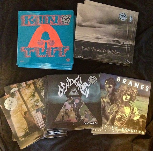 """New BURGER shipment..More KING TUFF, BURNT ONES, DEAD GHOSTS restocks. We also got the goth synth punk BRANES LP and MMOSS """"i"""" LP on BURGER as WILD HONEY are out of pressings."""