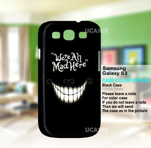 Alice In Wonderland Were All Mad Here - For Samsung Galaxy S3 Case | uCaser - Accessories on ArtFire
