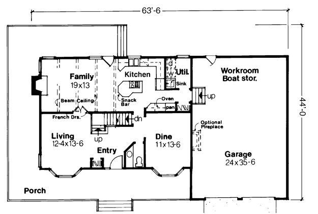 Farmhouse House Plan # 271103