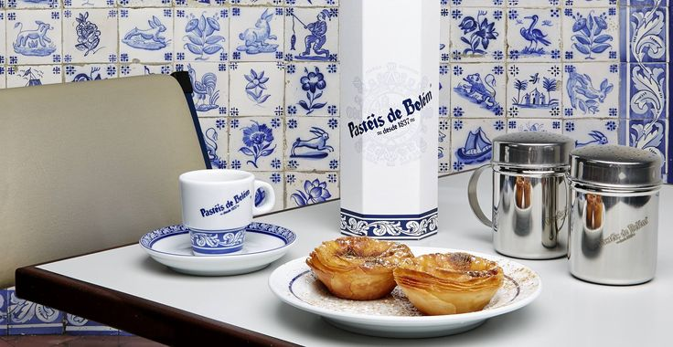 "Pastéis de Belém - famous for their egg custards aka ""pasteis de nata""."
