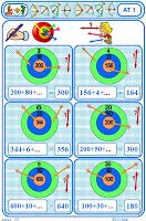 IPOTÂME ....TÂME: CE 1/2 jeu en autonomie : la cible n°4 compléter pour atteindre.nombres à trois chiffres.