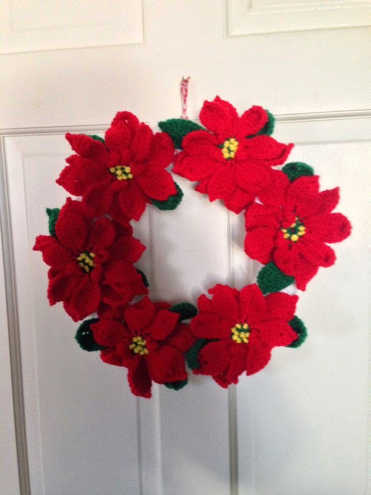 17 Best Images About Crocheted Wreaths On Pinterest Yarn
