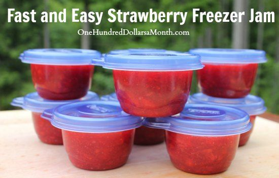 Fast and Easy Strawberry Freezer Jam, for other recipes check out http://www.pinterest.com/growveg/canning-and-preserving-a-z/