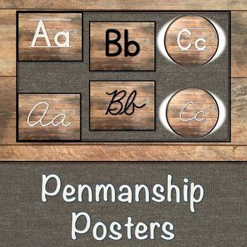 Wood Penmanship Posters by Kayla Collins- Teachlikeyoumeanit | TpT
