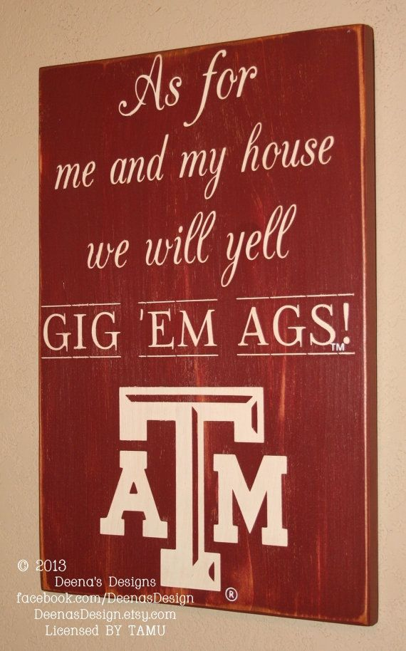 TAMU Wall Art, TAMU Aggies, Distressed Wood Signs, Wood Signage, Texas A and M University, We Will Yell Go Ags - Officially Licensed via Etsy