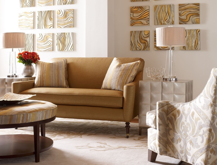 ... Showcases My Love Of Modern Metallics, Pairing Warm And Cool Neutrals  In A Palette I Call Glint. Highland House Furniture Collection By Candice  Olson.