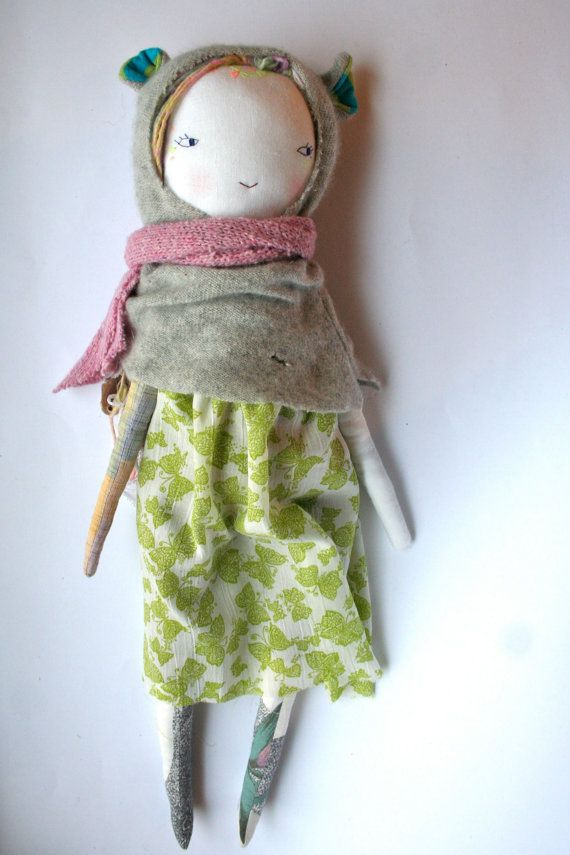 RESERVED LISTING for Svea  handmade rag doll cloth por humbletoys
