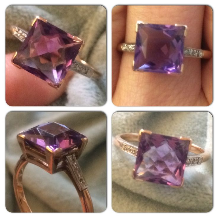 Stunning #vintage #amethyst and #diamond #ring now in the #vintageprettythings #etsy shop perfect for an #engagement #vintageprettyrings #showmeyourrings #ecochic #recycledglamour #eco #recycle #gold #vintagelove #vintagerings #vintageprettypins
