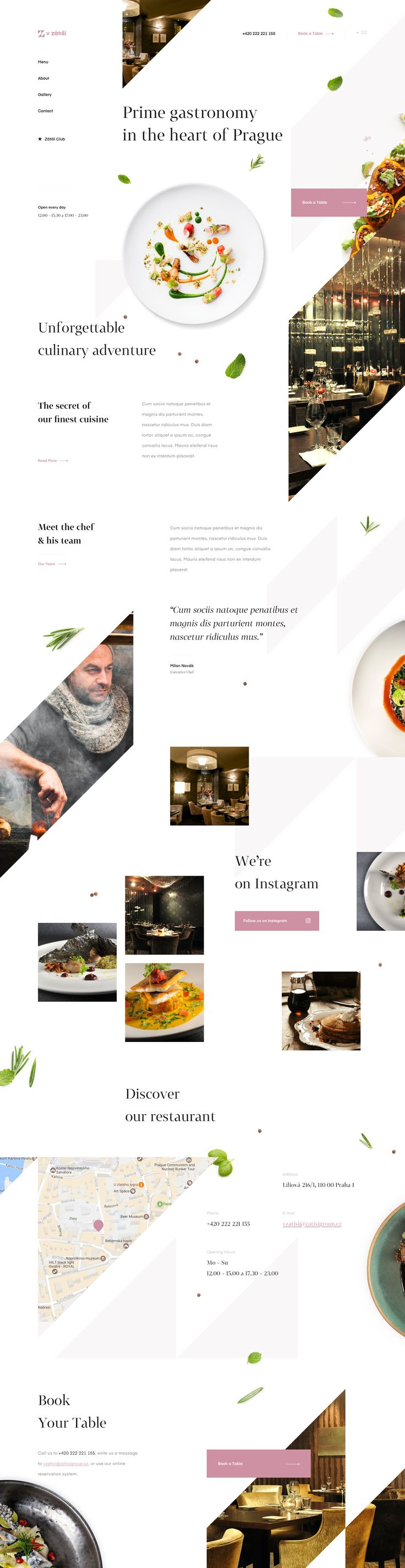 homepage_preview - Restaurant website inspiration