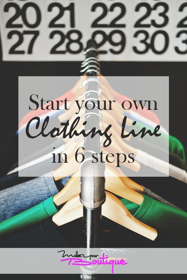 How To Start Your Own Clothing Line In Only 6 Steps Design Your Own Clothes Starting An Online Boutique Starting A Clothing Business