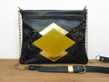 sac cuir geometrique made in france leathergoods
