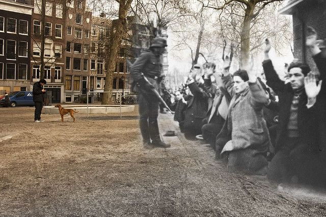 """Ghosts of Amterdam"" now/then Jonas Daniel Meijerplein"