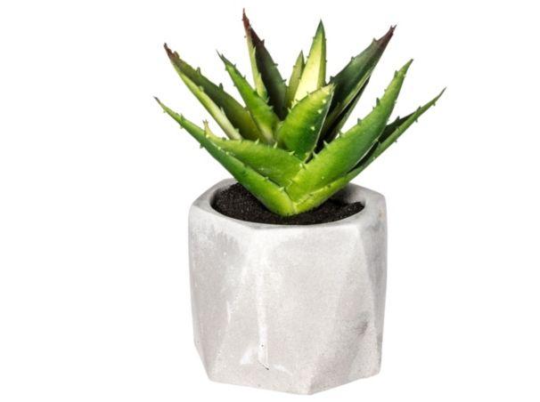 Pot Cactus H 13 Cm Ariane Vert Plantes Artificielles Plante