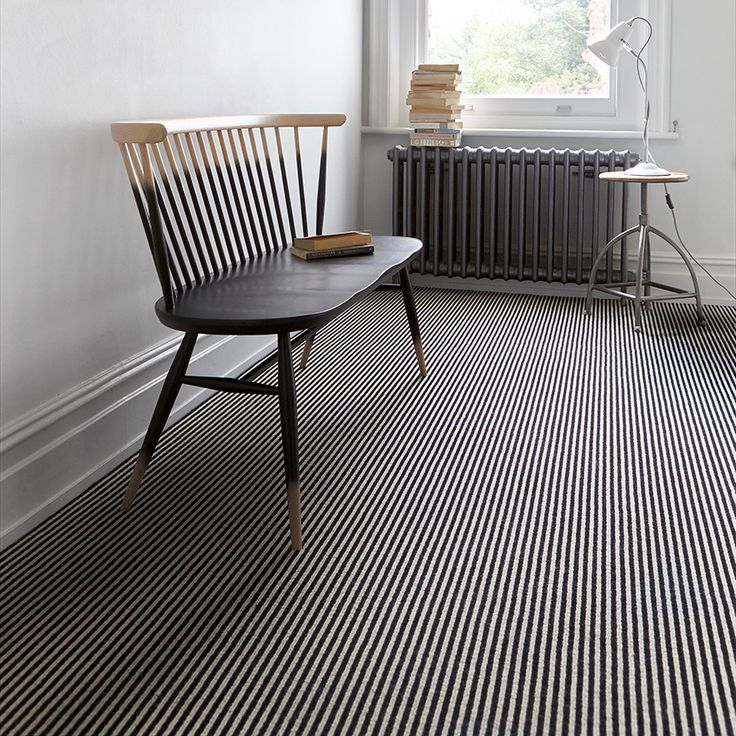 a striped carpet can be used to create the illusion of space in a room. Opt for thinner versions – such as 'Linear Stripe' by Carpet Right (above, £33 per square metre; carpetright.co.uk)