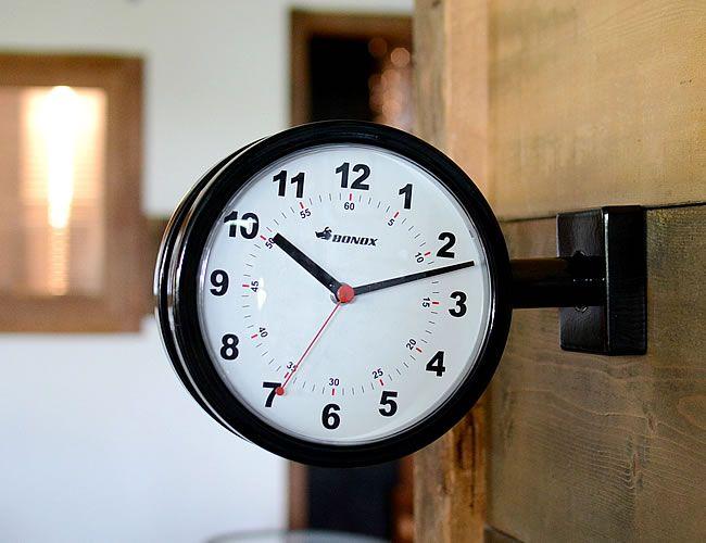 Bonox ダブルフェイスクロック 170d ブラック ナチュラルインテリア 生活雑貨の通信販売 ゼネラルストア オルネ 壁掛け時計 インテリア ナチュラル 時計