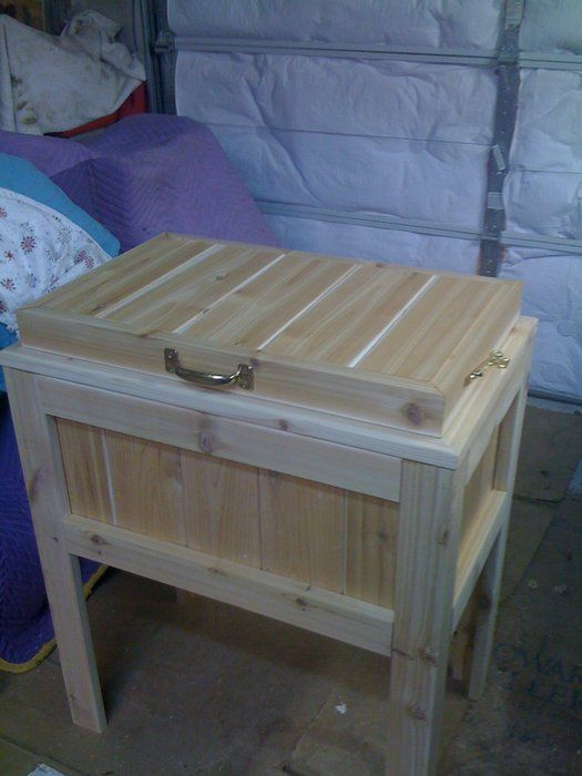 Wood Patio Cooler Plans: Patio / Deck Cooler Stand - By