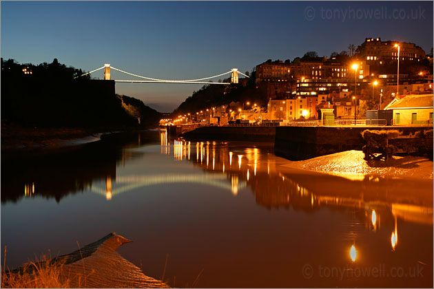 Bristol, England. The place of my birth. This is a beautiful pic of the Clifton Suspension Bridge.