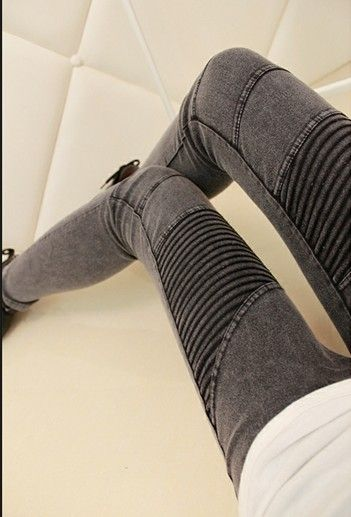 SF - Looking for a pair of skinny jeans with some sort of detailing on them, open to colored denim, black or med to dark wash denim (no light wash denim please) -J