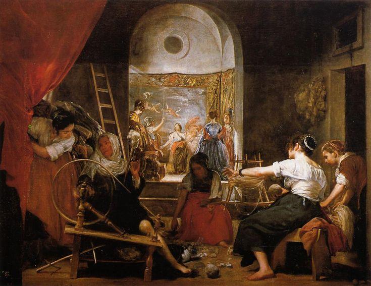 VELÁZQUEZ, Diego Spanish Baroque Era (1599-1660)_The Fable of Arachne c1644-c1648