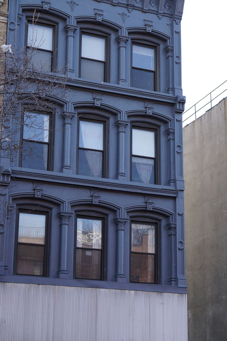 Very Blue Building - spotted in Brooklyn 4/15/15 #architecture